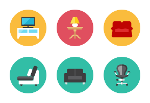 Furnitures Icons - Rounded