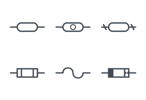 Fuses and electrical protection symbols