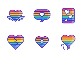 Gay LGBT Pride Rainbow - Fill Outline