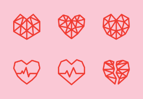 Geometric Hearts Valentine's Day