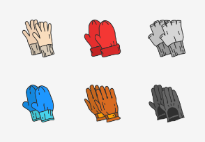 Gloves - Colored