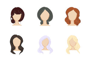 Hair Doodles - Colored
