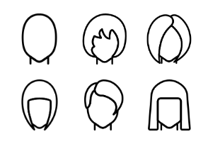 Hairstyles - Outline