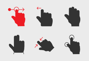 Hand Gesture  Double Colour Red Black vol 1