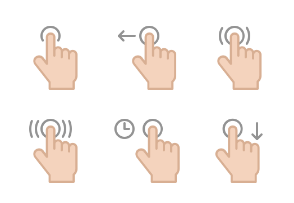 Hand Gesture Icons set 5