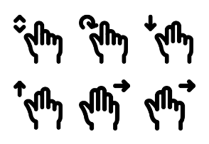 Hand Gesture MD - Outline - Vol 4