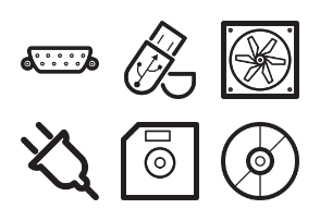 Hardware outline icons