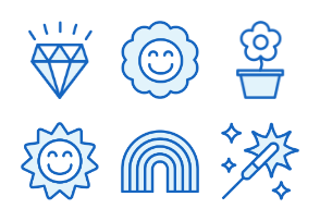 Holidays - Monochrome Icons