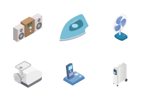 Home appliances - isometric