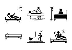 Hospital Patient Bed Bedroom Facilities