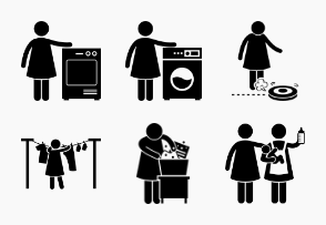 Housewife House Chores Housekeeping