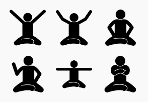 Human Sitting and Squatting on the Floor