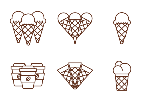 ICONIKA - Ice cream and Sweets outline
