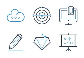 Ikooni outline: SEO & Web