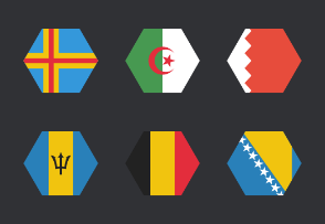 International Hexagon Flags