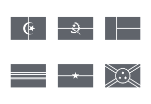 International Rectangle Flags - Glyphs