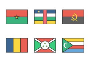 International Rectangle Flags