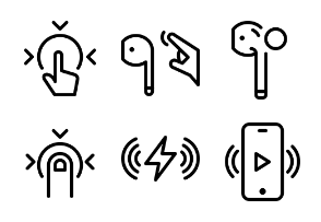 iPhone 7 & AirPods icons