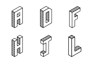 Isometric Alphabets and Numbers