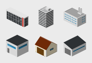 Isometric City Basic - Buildings