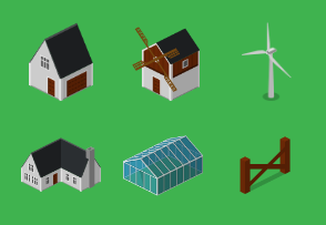 Isometric Farm - Buildings