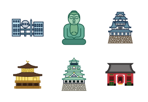 Japanese landmarks color