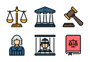 Law and Justice - Filled Outline