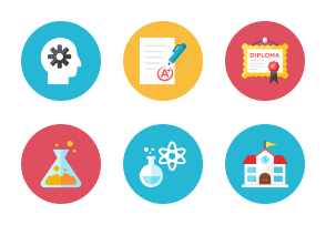 Learning Icons - Rounded