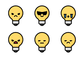 Light bulb Emoticons