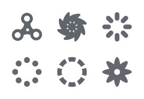 Loading Spinners - Glyph