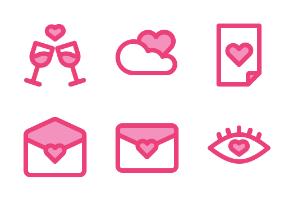Love (Pink Filled Line)