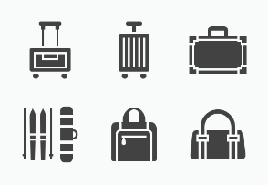 Luggage, Suitcases - Glyph