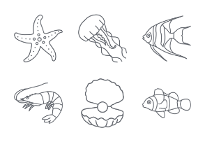 Marine Life Outlines