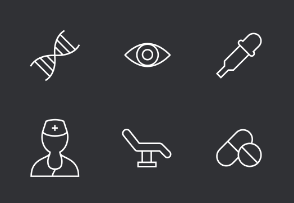 Medical Thinline Icons Set