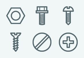 ELASTO Metal construction hardware Flat & Outline icons