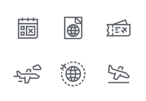 Mini icon set - Travel / Hotel / Camping