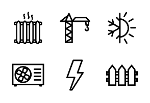 Mixed icon outline