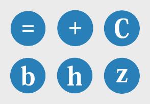 Blue round icon set