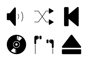 Music and media player ui glyph - s94