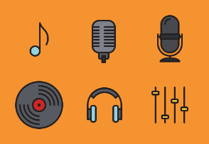 Music - Colored, Outlined, Pixel Perfect