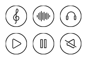 Music Outline Style