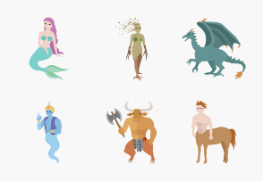 Mythical Creatures Color