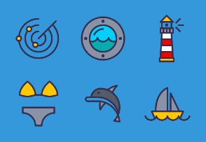 Nautical - Colored, Outlined, Pixel Perfect