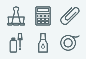 ELASTO Office stationery and accessories Flat & Outline icons