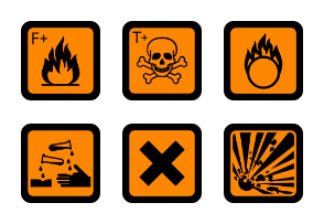 Old EU standard Hazard pictograms