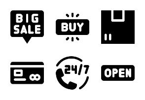 Online Shopping Glyph
