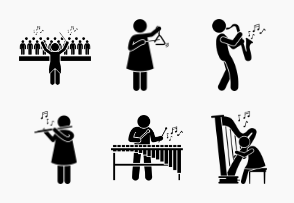 Orchestra Musicians with Musical Instruments
