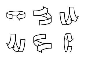 outlined arrows