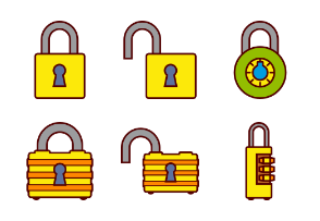 Padlocks and Security - color
