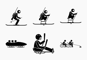 Paralympic Winter Sport Games for Disabled or Handicapped